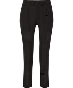 Juan Carlos Obando   Poolside Tonka Silk-Georgette Skinny Pants