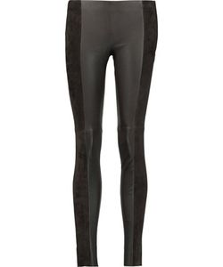 Michael Kors Collection | Leather And Suede Leggings