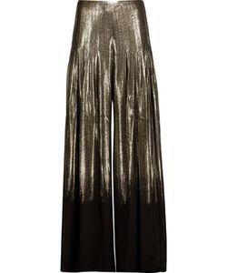 Oscar de la Renta | Pleated Glittered Silk-Blend Wide-Leg Pants