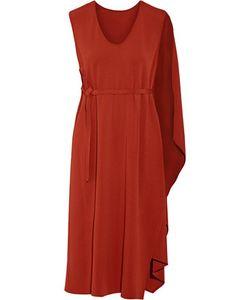 Narciso Rodriguez   Cape-Back Crepe Midi Dress