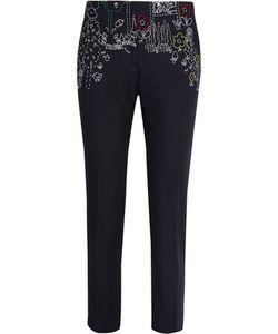 Mira Mikati | Dot To Dot Embroidered Cotton-Blend Twill Straight-Leg Pants