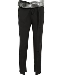 Ann Demeulemeester | Trimmed Wool-Twill Tapered Pants