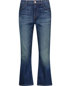 J Brand   Helena High-Rise Cropped Bootcut Jeans
