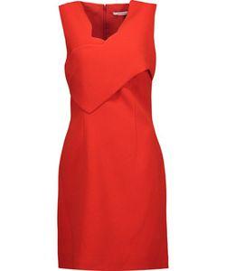 Carven | Scalloped Wrap-Effect Crepe Mini Dress