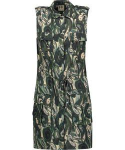 Haute Hippie   Printed Stretch-Silk Mini Dress
