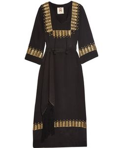 Figue   Chachani Embellished Silk Dress