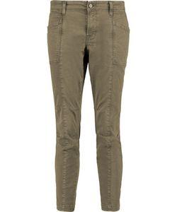 J Brand | Byrnes Cropped Cotton-Blend Slim-Leg Pants