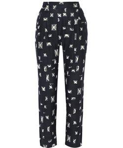 Derek Lam 10 Crosby | Printed Silk And Cotton-Blend Tapered Pants