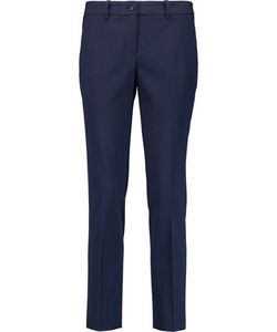 Michael Kors Collection | Samantha Wool-Blend Twill Slim-Leg Pants Storm