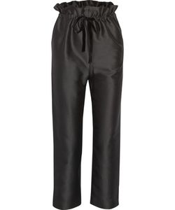 Isa Arfen | Cropped Cotton And Silk-Blend Straight-Leg Pants