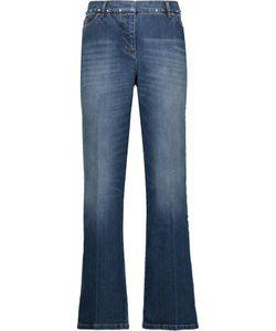 Valentino | Rockstud Mid-Rise Cropped Straight-Leg Jeans