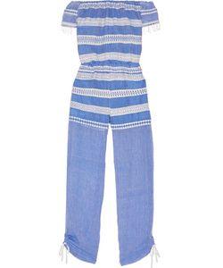 Lemlem   Freya Off-The-Shoulder Embroidered Cotton-Gauze Jumpsuit