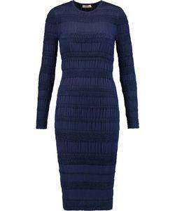 Nina Ricci | Smocked Silk Midi Dress