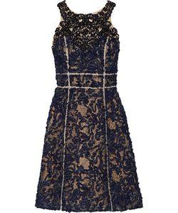 Marchesa Notte | Embellished Tulle And Gauze Mini Dress