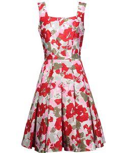 Oscar de la Renta | Pleated Printed Cotton And Silk-Blend Dress