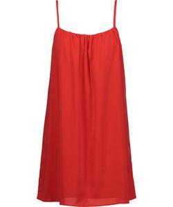 Alice + Olivia | Sisi Pleated Crepe De Chine Mini Dress