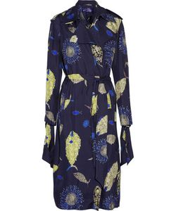 Emilio Pucci | Belted Printed Silk-Twill Trench Coat