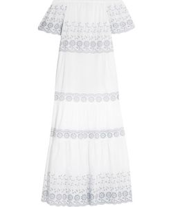 See by Chloé | Off-The-Shoulder Broderie Anglaise Cotton Maxi Dress