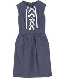 Raoul   Ember Lace-Up Cotton Mini Dress