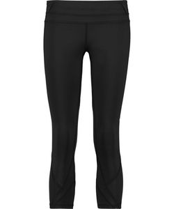 ATHLETIC PROPULSION LABS | Cropped Mesh-Paneled Stretch-Jersey Leggings