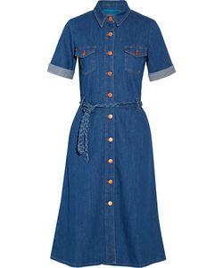 M.i.h Jeans | Belted Stretch-Denim Shirt Dress
