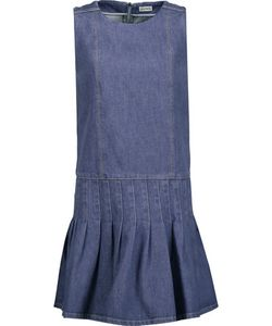 Suno | Pleated Denim Mini Dress