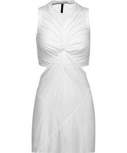 Rick Owens   Lilies Draped Cutout Stretch-Jersey Midi Dress