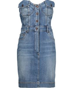 Moschino | Pleated Denim Mini Dress