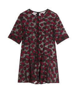 Lela Rose   Embroidered Organza Top