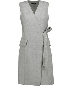 Theory | Livwilth Wrap-Effect Wool And Cashmere-Blend Dress