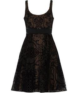 Marchesa Notte | Flocked Silk-Tulle Dress