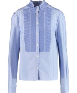 See by Chloé | Pleated Embroidered Cotton Blouse