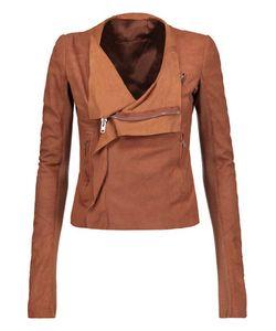 Rick Owens | Wool-Trimmed Suede Biker Jacket