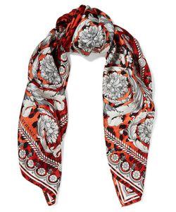 Versace | Leopard-Print Silk-Satin Scarf