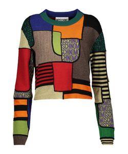 Moschino | Patchwork-Effect Paneled Wool Sweater