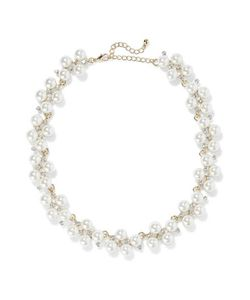 Kenneth Jay Lane | Plated Faux Pearl And Crystal Necklace