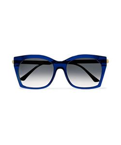 Thierry Lasry   Glazy Square-Frame Acetate And Metal Sunglasses Royal