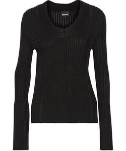 Just Cavalli | Pointelle-Trimmed Ribbed-Knit Cardigan