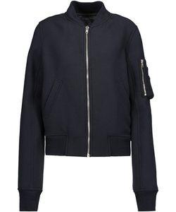 Rick Owens   Cropped Wool-Blend Bomber Jacket