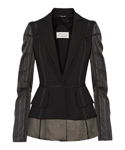 Maison Margiela | Silk Chiffon-Paneled Wool And Mohair-Blend Blazer