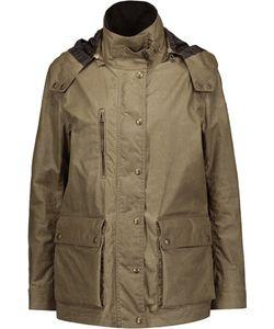 Belstaff | Velvet-Trimmed Coated Cotton Hooded Jacket