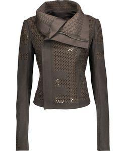 Rick Owens   Sequined Embroide Wool-Blend Jacket