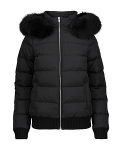Michael Kors Collection | Faux Fur-Trimmed Quilted Shell Jacket