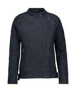 J Brand | Goodall Leather-Trimmed Suede Biker Jacket
