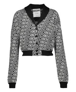 Moschino | Cropped Intarsia-Knit Wool Cardigan
