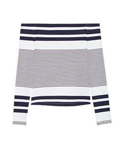 Rosetta Getty | Off-The-Shoulder Striped Stretch-Jersey Top
