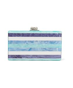 Edie Parker | Jean Striped Acrylic Box Clutch