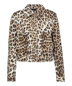 Just Cavalli | Leopard-Print Denim Jacket