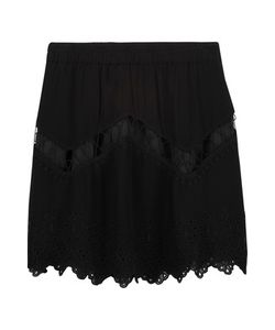 Iro | Flynn Embroidered Cutout Crepe Mini Skirt