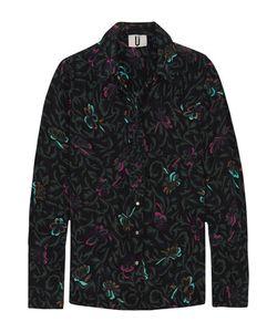 Topshop Unique | Tempus Printed Silk Crepe De Chine Shirt